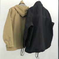 otoño invierno más moda deportes pareja hombres rompevientos letras digital impresión al aire libre impermeable impermeable funcionar chaquetas de fro masculino