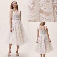 2020 Bohomain Tea Tea Protern Aning Свадебные платья Спагетти Ремни Полное кружева Страна Свадебное платье Плюс Размер Boho Сваденья свадьбы