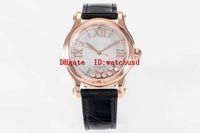 YF Фабрика HAPPY SPORT Женщина Часы 18K Rose Gold Lady Часы сапфировое водонепроницаемые часы автоматические механические Прозрачная задняя крышка
