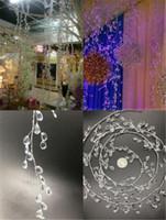 Yeni Şenlikli 100 cm Kristal Su Damlası Boncuklu Şube Dize Akrilik Boncuk + Alüminyum Tel Düğün