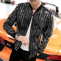 Homens Jacket Moda 2019 Bomber Jacket manga comprida Verão Sun Proteção Roupa Slim Fit chaqueta hombre Streetwear Windbreaker SH190916