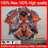Body YAMAHA YZF R 6 600 YZF YZF600 YZFR6 06 07 Cadre 61HC.88 YZF R6 06-07 600CC YZF600 orange noir YZFR6 2006 2007 OEM carénages Kit