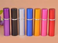 7 ألوان 5ml قنينة عطر الألومنيوم 5ml