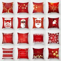 Merry Christmas Decorative Pillowcases Polyester Christmas T...