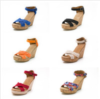 New Style Summer High- quality Solid Fashion Wedge Casual Ank...