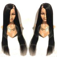 الإنسان الشعر يو الجزء لمة مستقيم العذراء البرازيلي Upart لمة جانب جزء غلويليس ش الجزء الإنسان باروكات الشعر للنساء السود