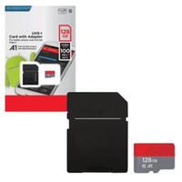50pcs الأحدث 128GB 256GB 64GB 32GB SD بطاقة هدية TF بطاقة مايكرو مع محول حزمة البيع بالتجزئة العامة نفطة