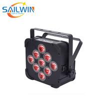 Sıcak Satış Panta 9x15W 5in1 LED Par Projektör RGBAW Pil Enerjili kablosuz düz LED Par Işık