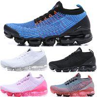 Tasarımcılar Sinek Sock Spor 2021 Yastık Erkek Koşu Ayakkabıları Üçlü Siyah Kadın Chaussures Gerçek Örgü Eğitmenler Sneakers Boyutu 5.5-11