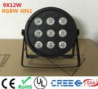 9x12W LED Flaches SlimPar Quad-Licht RGBW 4in1 LED DJ-Waschlicht Bühne Uplighting Kein Lärm