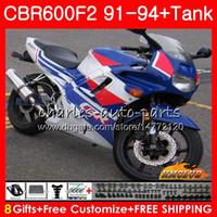 Body + Serbatoio per Honda CBR 600F2 CBR 600 FS 1991 1992 1993 1994 40HC.66 CBR600FS 600cc CBR600 F2 CBR600F2 F2 91 92 93 94 carenature fabbrica blu