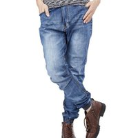 Men Jeans Fashion Stretch Joggers Hip Hop Denim Jogger Pants...