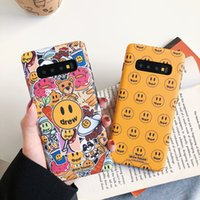 Luxe marque Fashion Drew House Justin Bieber dur Phone Case pour Samsung Galaxy S20 Ultra S10 S9 plus iphone 11 Smiley face Couverture
