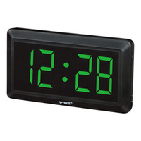 ساعة الحائط الإلكترونية الرقمية مع عدد كبير من الصمام أيضا لمكتب بجانب المنبه لا 33X17X3.5cm سوبر كبيرة الحجم