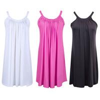 Новое лето женщин вскользь рукава партии Короткой мини-платье Пляжной Sundress