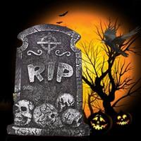 شواهد القبور هالوين الدعائم منزل مسكون في الهواء الطلق داخلي الديكور عصبي عشوائيا 38 * 26.5 سم