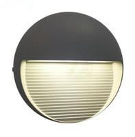 قاد 110V 220V 7W الحديثة مصباح الجدار في الهواء الطلق أضواء الجدار الداخلي lampadas فناء المصابيح بسيطة لامب أضواء الشرفة ماء