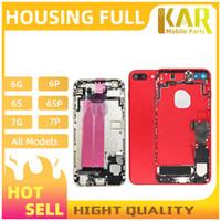 30 adet DHL iPhone 6 6 S 6SP 7 7 Artı Tam Konut Montajı Pil Kapağı Kapı Arka ile Flex Kablo Buzzer Mix Renk Ücretsiz Kargo
