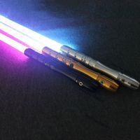 Косплей Lightsaber с Light Sound Led Красный Зеленый Синий Saber лазер металла Меч игрушки День рождения звезды малыша подарки Игры T200103