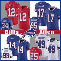 Josh Allen Stefon Diggs Jersey Tremaine Edmunds Jim Kelly Oliver Kyle Williams Thurman Thomas Buffalo