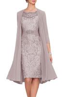 Parçalar Kılıf Dantel anne. damat Wedding Guest Elbise Akşam Gelin Giydirme Ceket Anne ile Resmi Giyim