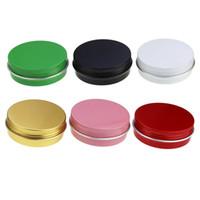2 oz 60ml 60g Çok Renkli Yuvarlak Alüminyum Kutular Vida Kapak Metal Teneke Kavanozları Boş Kayma Slide Konteynerleri