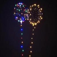 보보 풍선 LED 라인 문자열 스틱 웨이브 볼 풍선 라이트 업 크리스마스 할로윈 웨딩 생일 홈 파티 장식 VT0519