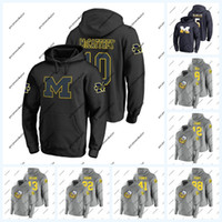 10 Dylan McCaffrey Michigan Wolverines Hoodie 3 Joe Milton 2 Shea Patterson 16 Max Wittwer 6 Michael Sessa NCAA-Fußballtrikot