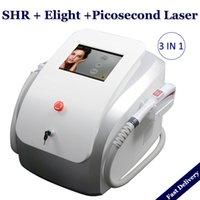 La depilación 3 EN 1 SHR IPL IPL Ocho piel de apriete Máquinas de eliminación de tatuajes con láser de rejuvenecimiento Picosegundo