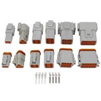6 Sätze von (2 + 3 + 4 + 6 + 8 + 12) stift wasserdichter draht elektrischer stecker stecker 22-16wg automobil english connector