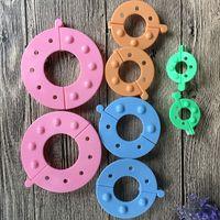 4 tailles 2 pcs / taille ronde Pompon Maker bricolage Artesanat Knitting Pom Pom Outils appropriés pour Chapeau Foulard Bandeau Décoration