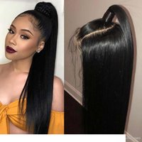 Lace Front Human Hair Wig 360 Pre Plucked Straight With Baby...