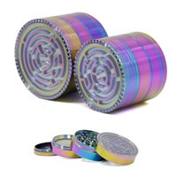 63mm 52mm Tobacco Grinder Iceblue 4 Layers Alloy Rainbow Maz...