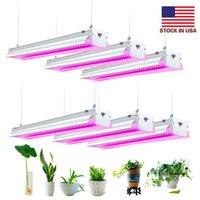 Lager i US + LED växer ljus, fullt spektrum, högproduktion, länkbar design, 4ft T20 integrerad glödlampa + fixtur, växtljus för inomhusplantor