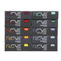 Hot Rove Vape Cartridges Carts Pyrex-Glastank 1.0ml Keramikspule Dickes Öl Mit 11 Geschmacksrichtungen Sticker Top Filling No Leakage Atomizer