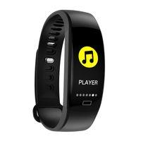 F64 Smart-Armband GPS-Blut-Sauerstoff-Puls-Monitor-Smart-Armbanduhr Wasserdicht Passometer Sport Fitness Smart Watch für iPhone und Android