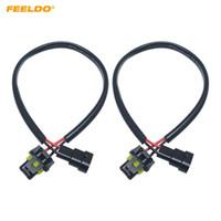Feeldo 2 stks Auto 12 V Auto H11 tot 9005/9006 Plug Power Cable Hid Conversie Kit Xenon Lamp Bulb Power Wire Harness # 5978