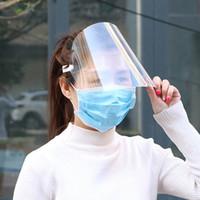 En la máscara protectora del adulto a prueba de polvo cubierta careta de protección transparente Máscaras anti del polvo del respirador de la nave libre elástico Mascherine