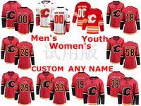 Calgary Flames jerseys James Neal Jersey Michael David Stone Rittich Oliver Kylington Rojo Blanco hockey sobre hielo de los jerseys cosido personalizada