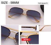 2019 nouveau top Designer Marque blaze cadre métallique lunettes de soleil miroir pilote femmes flash de soleil lunettes oculos de sol Feminino Gafas rd3584N