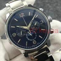 Nuovo braccialetto Top Mens meccanica orologi da polso in acciaio inossidabile automatico della vigilanza del movimento Sport Auto-Vento