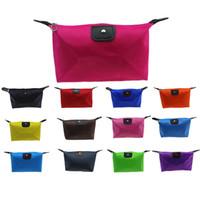 La borsa cosmetica calda della caramella di colori colora la borsa pieghevole cosmetica di trucco degli strumenti cosmetici di bellezza della borsa di stoccaggio della polpetta