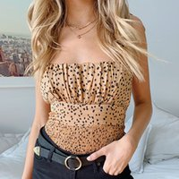 Sexy Backless Leopard Tank Top Donne ritagliate Skinny Party Clubwear Canotte a pieghe Top Womens Fashion Slim Top