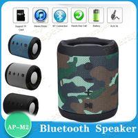 mini caja de sonidos del altavoz de Bluetooth M2 altavoces del equipo de radio subwoofer inalámbrico portátil con micrófono TF de la ayuda exterior Columna Bass
