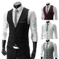 Nouvelle arrivée Robe Gilets pour hommes Slim Fit Costume Hommes Gilet Homme Gilet Gilet Homme manches Casual Veste d'affaires formelle