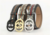 2019 gold and silver black buckle fashion new belt, belt pat...