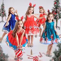 Детские девушки цветка Одежда Детские платья для девочек Рождество Одежда Санта-Клауса платье принцессы Новогодняя вечеринка Дети Косплей Костюм