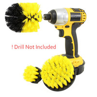 3 Unids Power Scrub Brush Drill Brush Brocha de Limpieza Para Baño Ducha Azulejo Inalámbrico Power Scrubber Drill Brush Brush accesorio c845