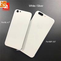 Para iPhone 6 Sustitución 6P 6S 6SP 7 7P Plus Al igual que la cubierta de iPhone 8 del estilo del metal Tapa trasera con botones