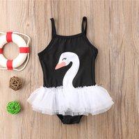 Çocuklar Kız Yüzmek Kuğu Mayo Yaz Kolsuz Tül Tutu Mayo Mayo Beachwear Kızlar Bikini Yüzme Takım Elbise